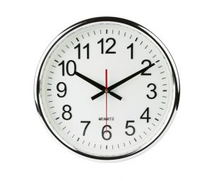 standard wall clock isolated on white background