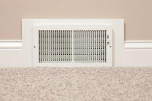 hvac vent on wall near floor