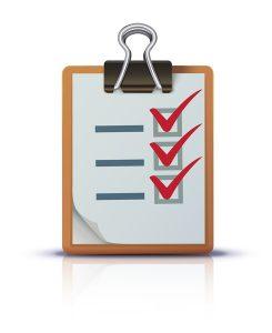 checklist on a clipboard